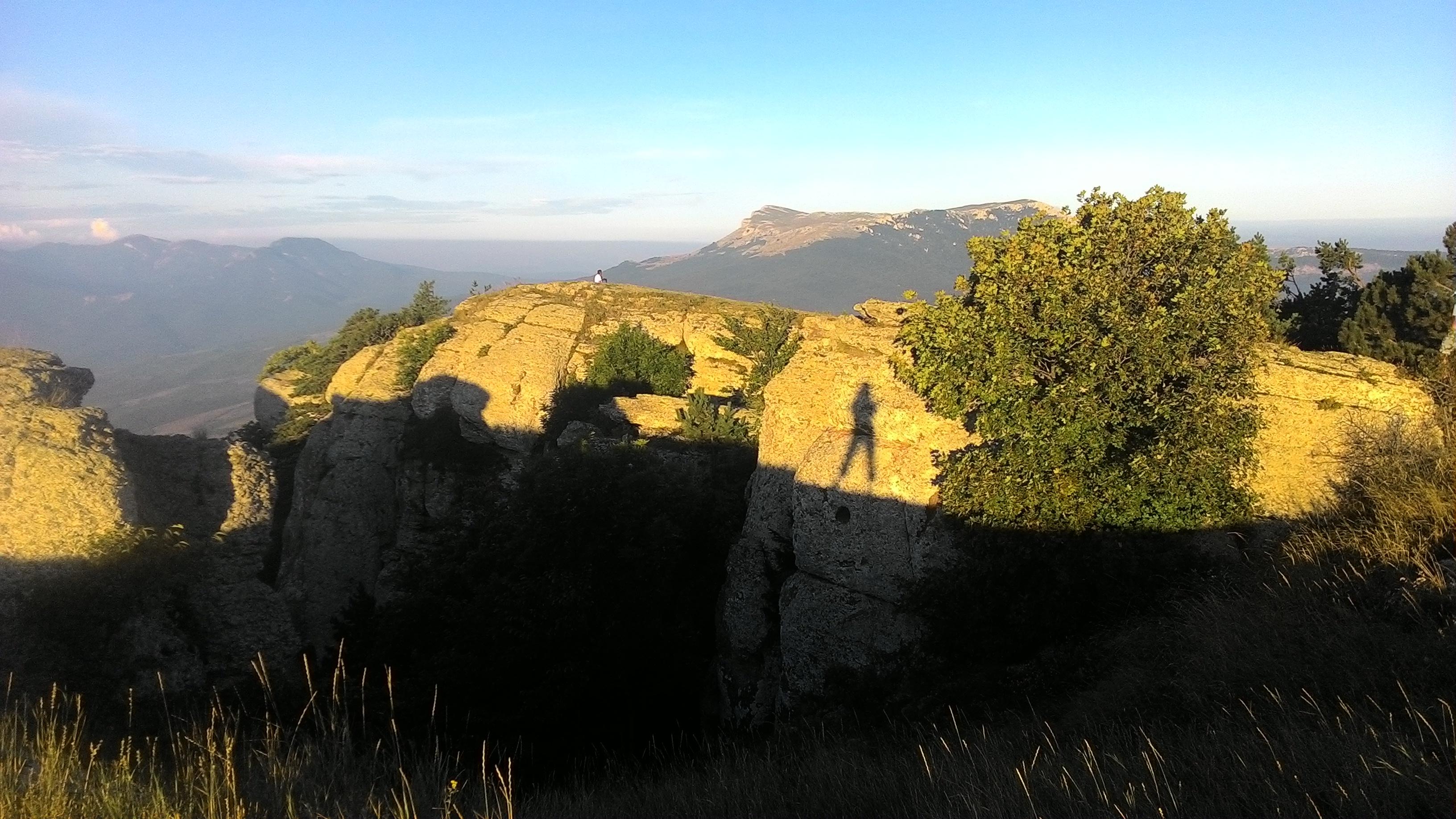 демерджи на рассвете ловим свою тень
