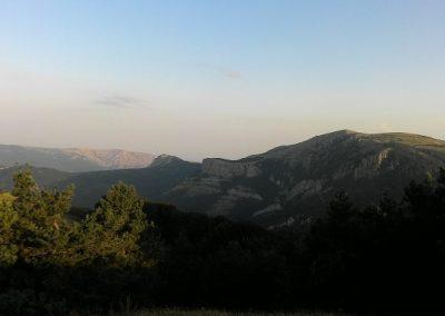 горы утром