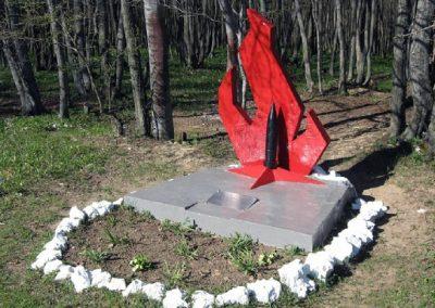 памятник партизанам, стоянка 18-го отряда, Долгоруковская Яйла