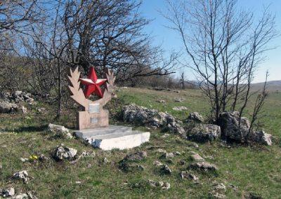памятник партизанам, гора Колан-Баир