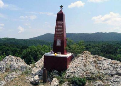 памятник партизанам, Зуйская застава, Долгоруковская Яйла