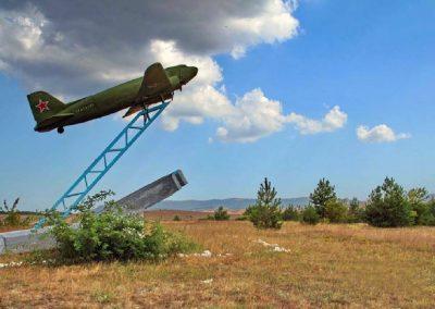 памятник летчикам, военный аэродром, Долгоруковская Яйла