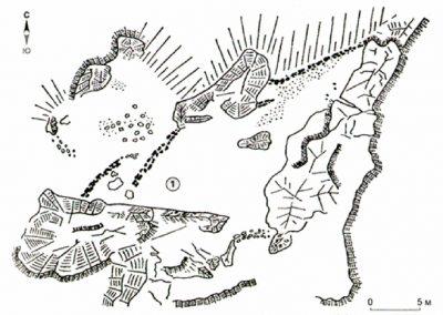 план средневекового укрепления на Никитской расщелине