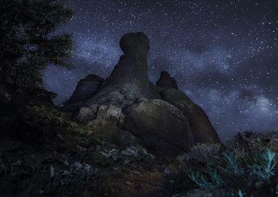 Долина привидений ночью