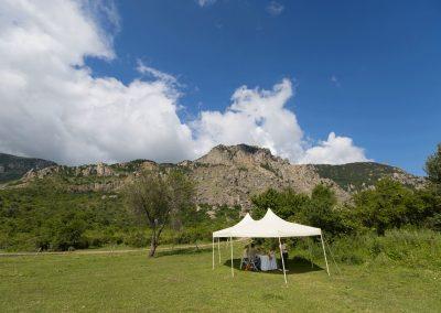 Обед с панорамным видом на горы